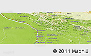 Physical Panoramic Map of Thakhek