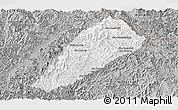 Gray Panoramic Map of Ngoy