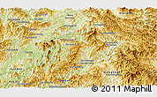Physical Panoramic Map of Ngoy
