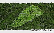 Satellite Panoramic Map of Ngoy, darken