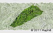 Satellite Panoramic Map of Ngoy, lighten