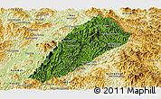 Satellite Panoramic Map of Ngoy, physical outside