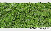 Satellite Panoramic Map of Ngoy