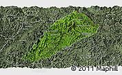 Satellite Panoramic Map of Ngoy, semi-desaturated