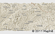 Shaded Relief Panoramic Map of Ngoy