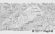 Silver Style Panoramic Map of Ngoy