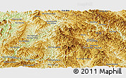 Physical Panoramic Map of Viengkham