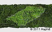 Satellite Panoramic Map of Viengkham, darken