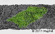 Satellite Panoramic Map of Viengkham, desaturated