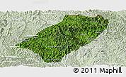 Satellite Panoramic Map of Viengkham, lighten