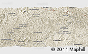 Shaded Relief Panoramic Map of Viengkham