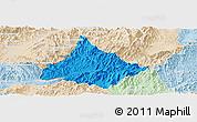 Political Panoramic Map of Long, lighten