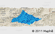 Political Panoramic Map of Long, shaded relief outside