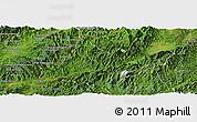 Satellite Panoramic Map of Long