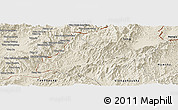 Shaded Relief Panoramic Map of Long