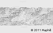 Silver Style Panoramic Map of Long