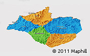 Political Panoramic Map of Namtha, cropped outside