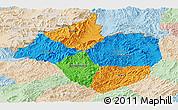 Political Panoramic Map of Namtha, lighten