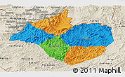 Political Panoramic Map of Namtha, shaded relief outside