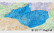 Political Shades Panoramic Map of Namtha, lighten