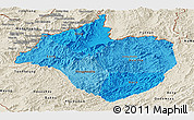 Political Shades Panoramic Map of Namtha, shaded relief outside