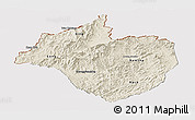 Shaded Relief Panoramic Map of Namtha, cropped outside