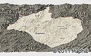 Shaded Relief Panoramic Map of Namtha, darken