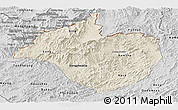 Shaded Relief Panoramic Map of Namtha, desaturated