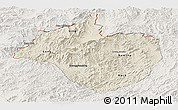 Shaded Relief Panoramic Map of Namtha, lighten