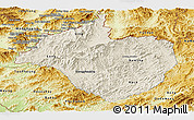 Shaded Relief Panoramic Map of Namtha, physical outside