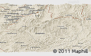 Shaded Relief Panoramic Map of Namtha