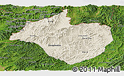 Shaded Relief Panoramic Map of Namtha, satellite outside
