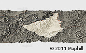 Shaded Relief Panoramic Map of Sing, darken