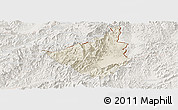 Shaded Relief Panoramic Map of Sing, lighten