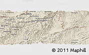 Shaded Relief Panoramic Map of Sing