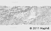 Silver Style Panoramic Map of Sing