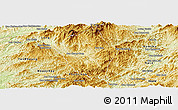 Physical Panoramic Map of Viengphoukha
