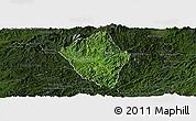 Satellite Panoramic Map of Viengphoukha, darken