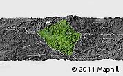 Satellite Panoramic Map of Viengphoukha, desaturated