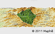 Satellite Panoramic Map of Viengphoukha, physical outside