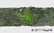 Satellite Panoramic Map of Viengphoukha, semi-desaturated