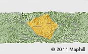 Savanna Style Panoramic Map of Viengphoukha