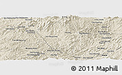 Shaded Relief Panoramic Map of Viengphoukha