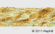 Physical Panoramic Map of Houne