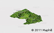 Satellite Panoramic Map of Houne, cropped outside
