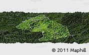 Satellite Panoramic Map of Houne, darken