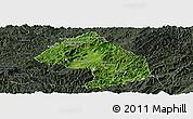 Satellite Panoramic Map of Houne, darken, semi-desaturated
