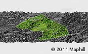 Satellite Panoramic Map of Houne, desaturated