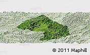 Satellite Panoramic Map of Houne, lighten