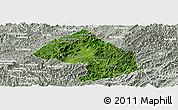 Satellite Panoramic Map of Houne, lighten, semi-desaturated